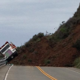 Truck Caught in a Landslide