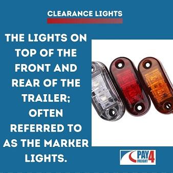 Trucking term Clearance light