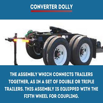 Trucking term Converter Dolly
