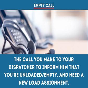 Trucking term-Empty-Call