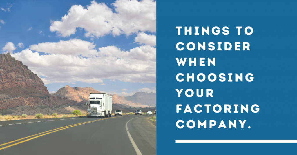 Things to Consider When Choosing Your Factoring Company